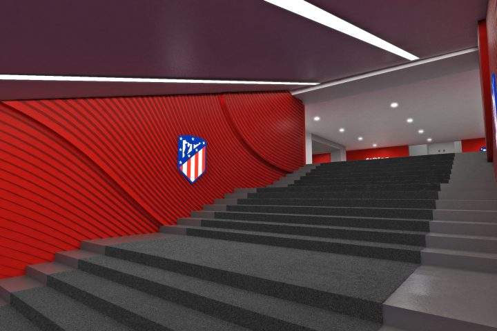 render atletico de madrid tunel